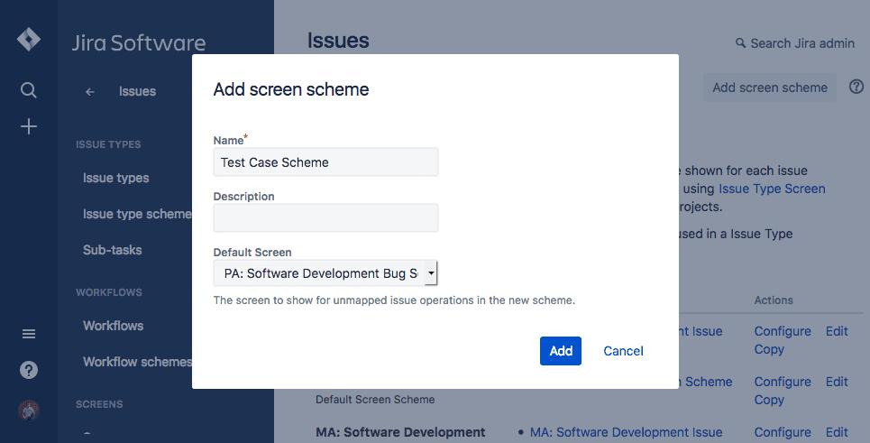 Add screen scheme jira