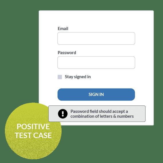 Positive test case